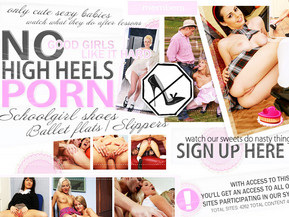 No high heel porn! Only cute babes in ballet/school shoes. Watch this good girls doing nasty things!