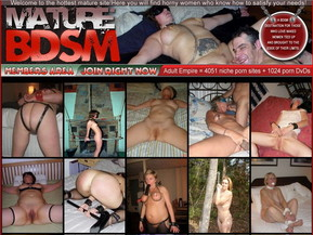 There is a lot of real amateur photos of nasty chicks and amateur sluts getting dominated in BDSM actions inside the members area of BDSM Mature. Nasty amateur chicks and hot sluts getting tied, handcuffed and dominated in different ways on camera for the first time.