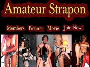 Amateur Strapon Pictures And Movie. Dominant women fuck their male slaves with huge strapon dildos