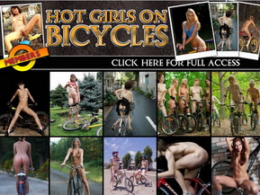 These girls forgot to dress shorts before sitting down on a bicycle