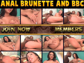 Naughty brunette slut getting assfucked by big black cock! Join today and watch exclusive interracial anal porn!
