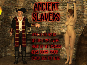 "Busty slave girl gets sold to the tavern - Good biz at the old slave market ??"" Slave girl of the barbarian ??"" Slave trading pirates ??"" Bought from the ponygirl farm."