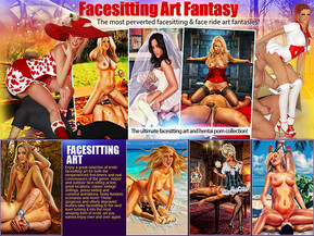 "Facesitting is an art these bossy bitches have mastered perfectly. They love nothing more than smothering submissive men with their pussies and asses, making them desperately grasp for air and clean up those super-wet cracks with their lips and tongues. We have it all from playful anime babes to classic vintage-style scenes, femdom face-sitting comics, 3D toons and more. If you love drawn erotic art and facesitting action ??"" our site is the place to be."