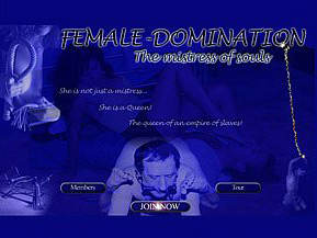 Female Domination. She Is Not Just a Mistress. She is a Queen! The Queen of an empire of slaves!