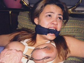 Real Amateur wives and girlfriends tied, gagged and humiliated.