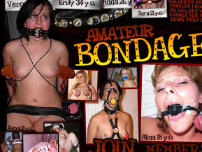 You cannot realize the joy and excitement that you are supposed to be experiencing right now as you've found this filthy websource with all the naughty and disgusting sexual experiments in bdsm form showing the threshold of the fuck games when turns into indescribable pleasure and you start enjoying the process of thrilling copulation. The most fascinating thing is that all galleries are filled with real females from your neighborhood or college you went to. Here is a chance for you to witness them being very bad. Exciting galleries with shocking 100% exclusive content are one click away from you, so stop reading and sign up for endless flow of amateur bondage porn where casual people from all over the world have naughty sex and then upload their porn every day for you to have a good time watching them misbehaving.