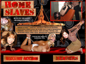 Home Slaves - special amateur bondage edition, including thousands of rare and unique homemade photos. Only the finest, rough tied chicks get to know what does real homemade bondage mean!