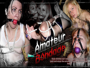 Amateur bondage, GF BDSM, home made bondage of wife - huge collection - all in one place!