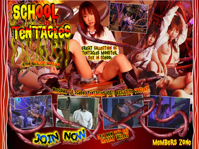 School Tentacles, There is no safe place in the whole world, Not even school. No one will escape sexual wraith of the tentacles. Full length live action tentacle movies, filled with brutal tentacles, facials, bondage sex, and other scenes, will blow your imagination.