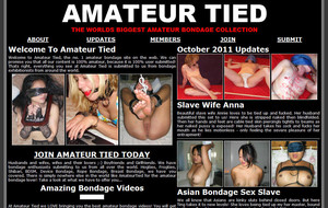 The largest collection of User Submitted Amateur Bondage on the web! Our content is 100% user submitted and will cater to any bondage taste. Ropes, chains, Shibari, gags, blindfolds, suspension bondage, rope harnesses, we at Amateur Tied have it all.