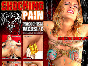 BDSM website with shocking masochism content. Needle play and piercing. Extreme edge play.
