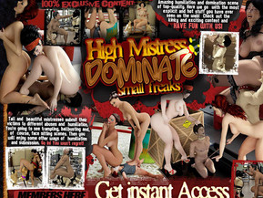 Welcome to our circus of small slave freaks! Amazing humiliation and domination scene of top-quality. Here we go with the most explicit and hot stuff you have ever seen on the web! Check out the kinky and exciting content and have fun with us! Tall and beautiful mistresses. You're going to see trampling, ballbusting and, of course, face sitting scenes. Then you will enjoy some other ways of humiliation. Go in! You won't regret!